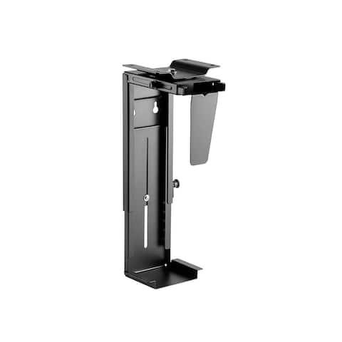 Monoprice Computer Case CPU Tower Holder, Adjustable Under Desk Mount, Rotating