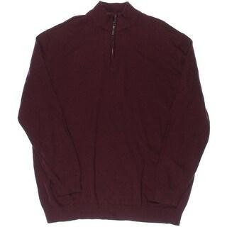 John Ashford Mens Big & Tall Long Sleeves 1/4 Zip Pullover Sweater - 2xlt