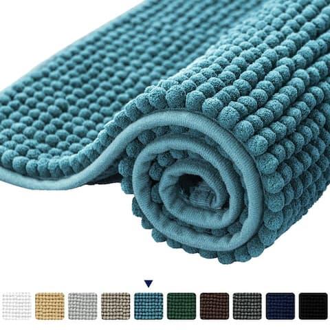 Subrtex Luxury Chenille Bathroom Rug or Bathroom Mat