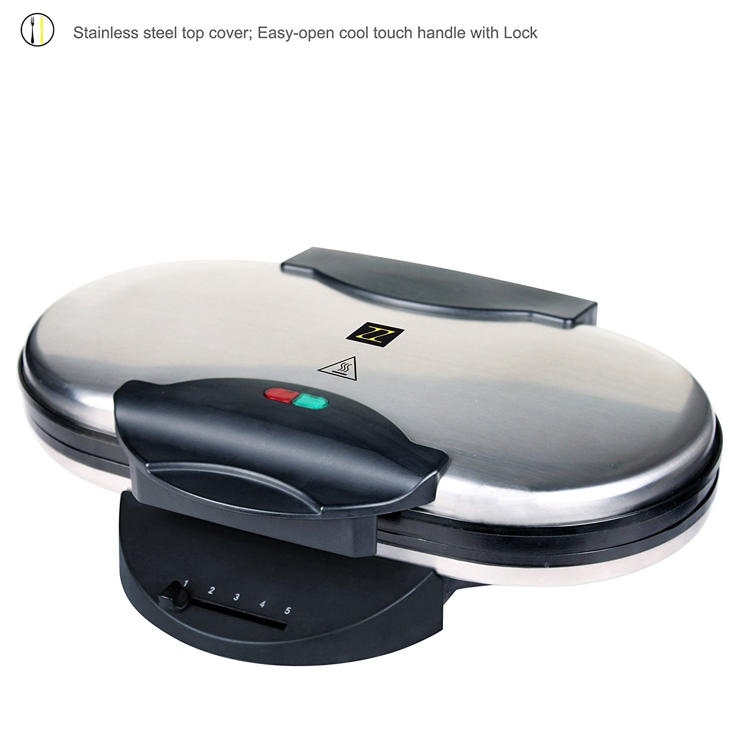 Zz Wf330 10 In 1 Heart Waffle Maker With Non Stick Plate 1200w Black Silver Overstock 14335868