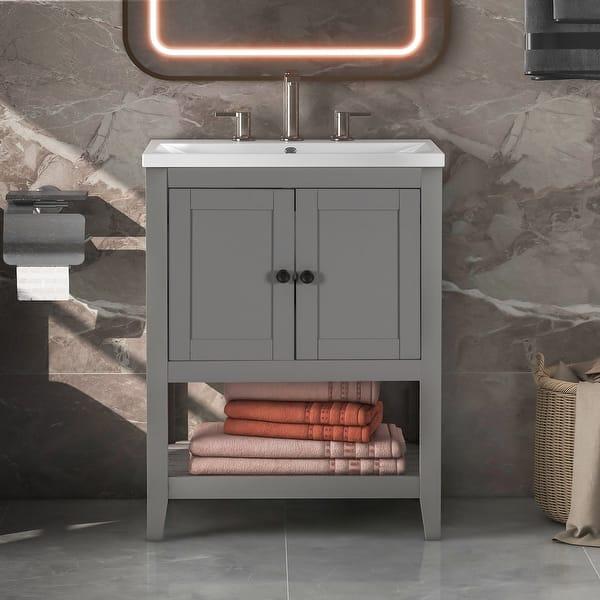 Modern Sleek Bathroom Vanity Overstock 34117251