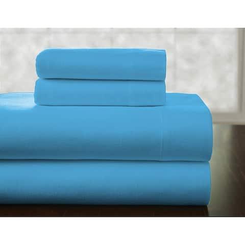 Pointehaven Superior Weight Cotton Deep Pocket Flannel Bed Sheet Set