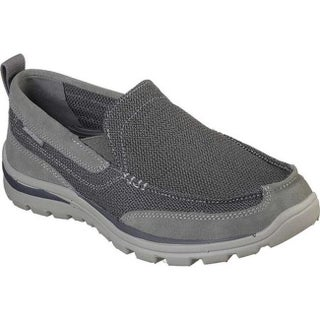 2b07a5a1 Shop Skechers Men's Relaxed Fit Superior Milford Charcoal/Gray - On ...