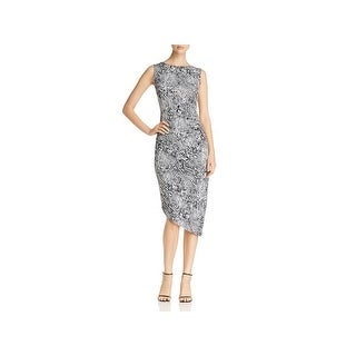 Calvin Klein Womens Casual Dress Snake Print Ruched