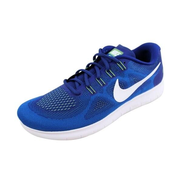 2194b1d736a7b Shop Nike Men s Free Run 2017 Deep Royal Blue White-Soar 880839-401 ...