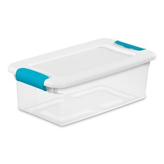 Shop Sterilite 18948606 Medium ShowOffs Storage Box ClearBlue
