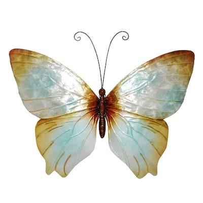 Butterfly Wall Decor Pearl - 1 x 18 x 13