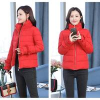 New women's jacket Thick cotton jacket Slim down jacket