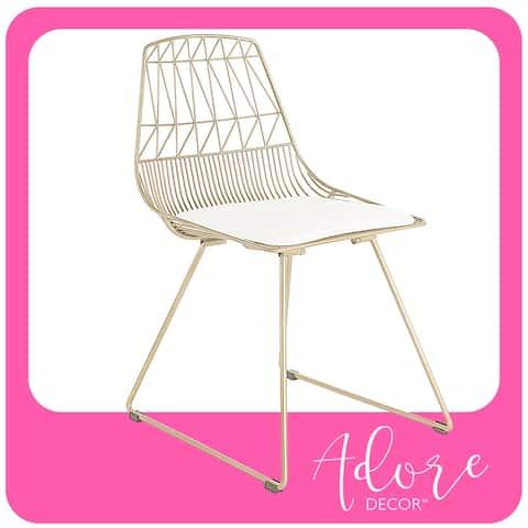 Adore Decor Vivi Metal Chair (Set of 2)