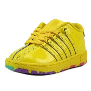 K-Swiss Classic VN Toddler Round Toe Patent Leather Yellow Sneakers