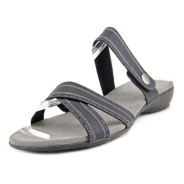 Judith Romy Women  Open Toe Synthetic Black Slides Sandal