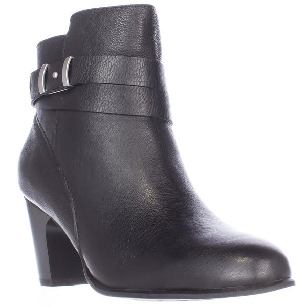 GB35 Calae Almond Toe Dress Ankle Boots, Black