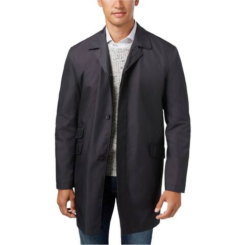Kenneth Cole Mens Rosco Microdot Raincoat, Grey, 42R