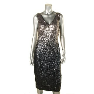 Rachel Roy Womens Cocktail Dress Ombre Sequin