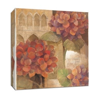 """PTM Images 9-152588  PTM Canvas Collection 12"""" x 12"""" - """"Spanish Hydrangea I"""" Giclee Hydrangeas Art Print on Canvas"""