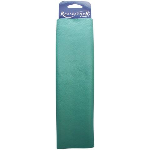 "Leather Premium Trim Piece 8.5""X11""-Turquoise"