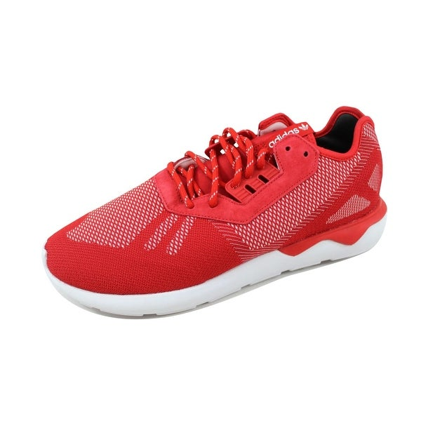 Adidas Men's Tubular Runner Weave Scarlet Red/Scarlet Red-White B25597