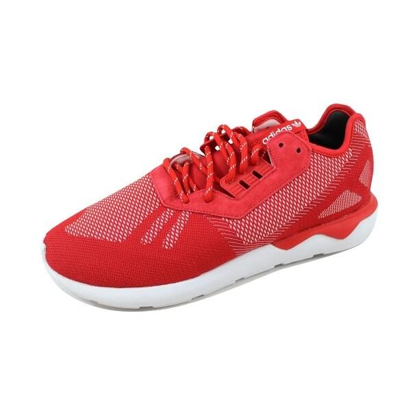 Adidas Men's Tubular Runner Weave Scarlet Red/White B25597