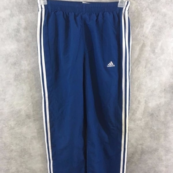 2861340bcc Adidas athletic boys pants Size L blue white polyester