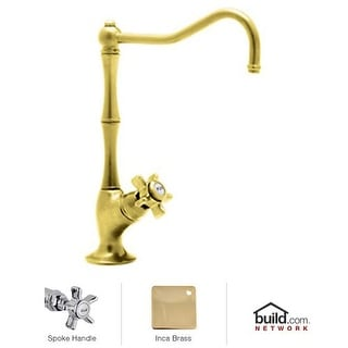 Rohl A1435X-2 Country Kitchen Filter Faucet with Mini Five Spoke Handle