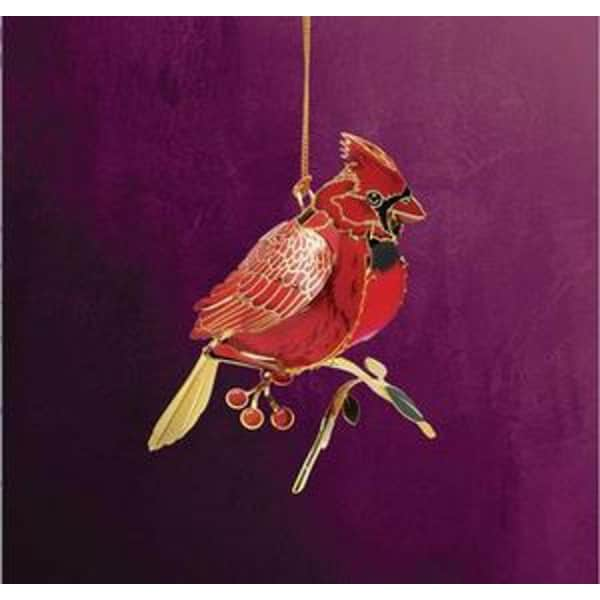 """2.5"""" Collectible Keepsakes Perched Cardinal Christmas Ornament - RED"""