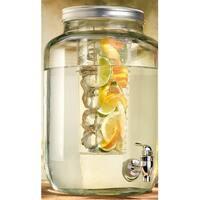 Palais Glassware Mason Jar Beverage Dispenser  Traditional Tin Screw Off Lid 2 Gallon Capacity