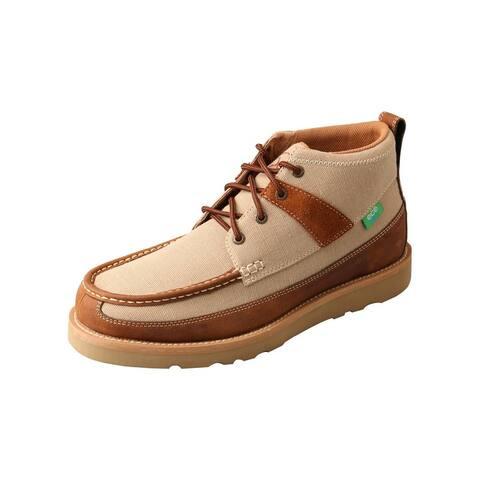 Twisted X Casual Shoes Mens Lace Up B Toe Chukka Khaki