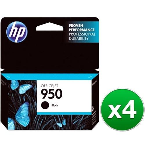 HP 950 Black Original Ink Cartridge (CN049AN)(4-Pack)