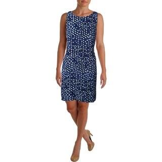 Aqua Womens Printed Sleeveless Casual Dress