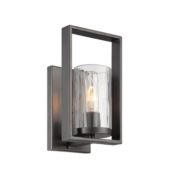 Designers Fountain 86501 Elements 1-Light Bathroom Sconce - charcoal