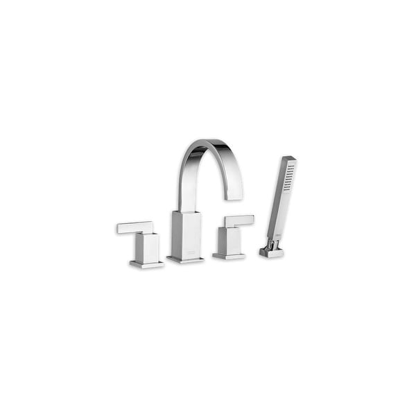 American Standard 7184 901 Times Square Deck Mounted Roman Tub Faucet With Metal Lever Handles And Built