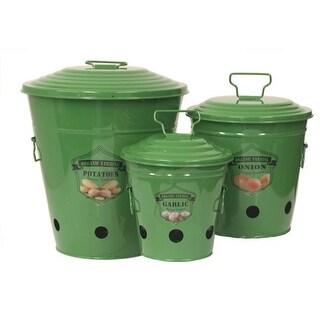 Enameled Galvanized Kitchen Storage Containers, Saffron