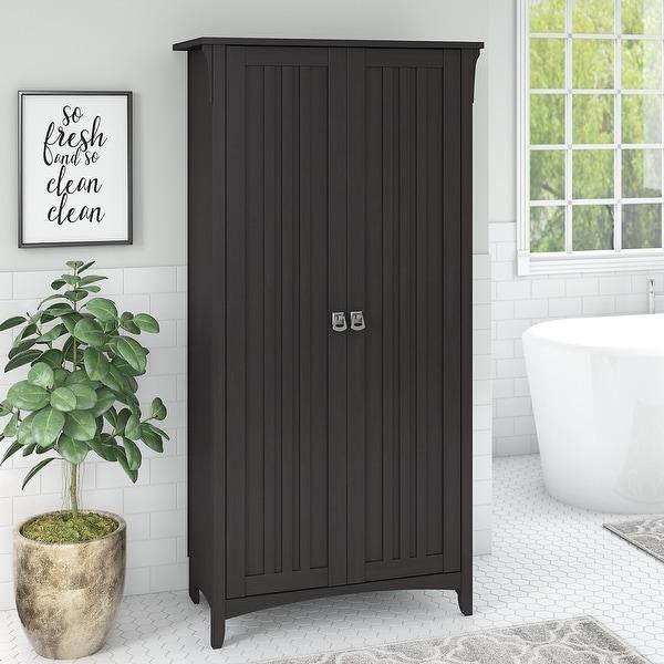 The Gray Barn Lowbridge Bathroom Storage Cabinet with Doors. Opens flyout.