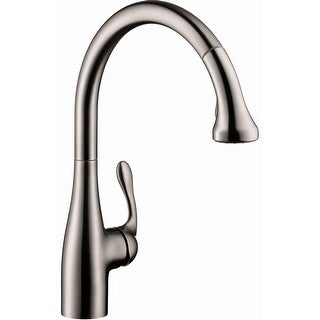 Hansgrohe 06460  Allegro E Pull-Down Kitchen Faucet with High-Arc Spout, Magnetic Docking & Locking Spray Diverter