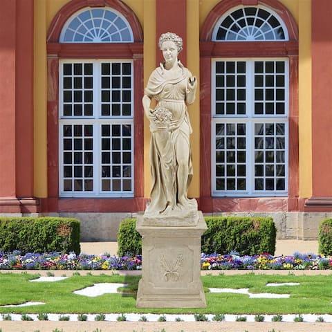 Four Seasons Spring Statue With Plinth Frt-Nr