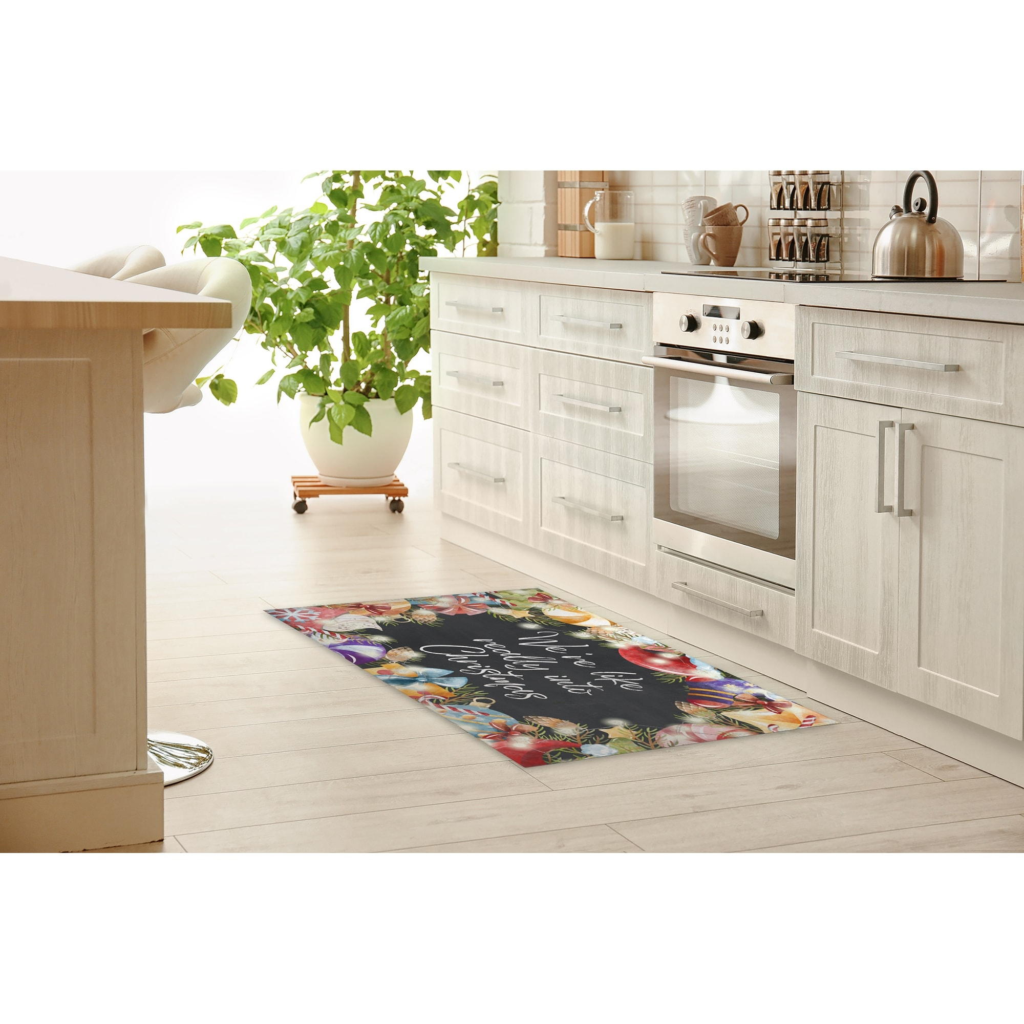 Picture of: We Re Like Really Into Christmas Kitchen Mat By Kavka Designs Overstock 32224539