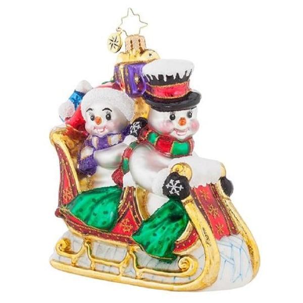 Christopher Radko Glass Sir Hop-A-Lot Frog Christmas Ornament #1017931 - multi