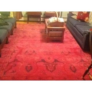 Shop Nuloom Handmade Persian Overdyed Pink Wool Rug 8 6
