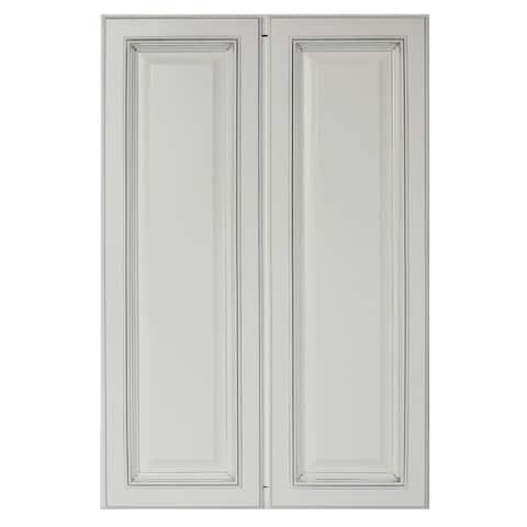 """Sunny Wood SLP2436T-A Sanibel 24"""" Wide x 36"""" High Double Door Pantry Cabinet"""
