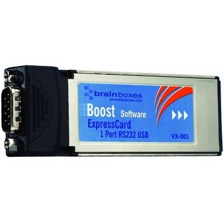 """Brainboxes VX-001-001 Brainboxes VX-001 1 Port RS-232 Serial Express Card - 1 x 9-pin DB-9 Male RS-232 Serial"""