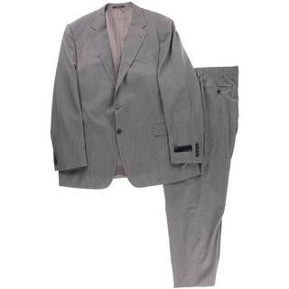 Joseph Abboud Mens Wool Blend Pinstripe Two-Button Suit - 48L