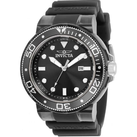 Invicta Men's 32330 'Pro Diver' Black Silicone Watch