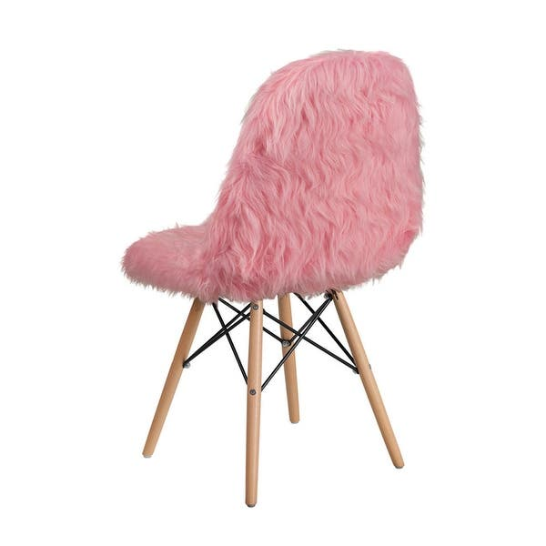 Marvelous Shop Offex Shaggy Dog Faux Fur Upholstered Accent Chair Machost Co Dining Chair Design Ideas Machostcouk