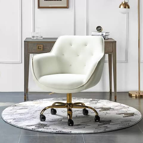 Galera Swivel Task Chair with Tufted Back