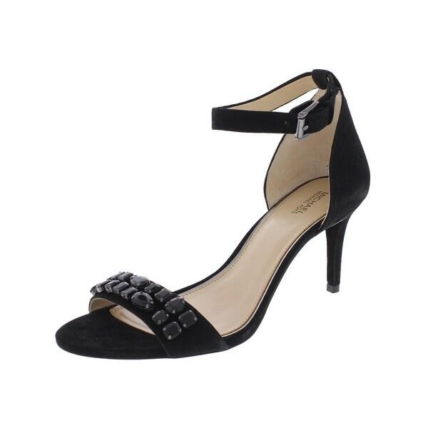 MICHAEL Michael Kors Womens Sylvie Dress Heels Embellished Open Toe - 9.5 medium (b,m)
