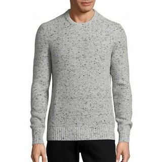 Michael Kors NEW Gray Mens Size XL Crewneck Wool Donegal Sweater