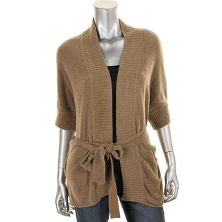 Catherine Malandrino Womens Chenille Open Front Cardigan Sweater - S