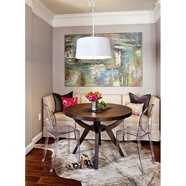 Clear Modern Dining Molded Armless No Arm Side Chairs Stacking Plastic Home Office Kitchen Work Bedroom Designer On Sale Overstock 23506689