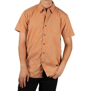 MO7 Men's Printed Short-Sleeve Woven Shirt