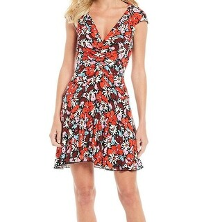 Link to Free People Women's Red Size Small S Floral Ruched Sheath Dress Similar Items in Dresses